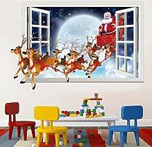 Weihnachtsdekoration Wandaufkleber Weihnachtsmann