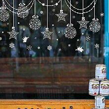 Weihnachtsdekorationen Glastür Aufkleber Fenster