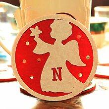 Weihnachtsdekorationen Westlichen Tisch Tassen Untersetzer Kaffee-Untersetzer Pads Pad Isoliermatten 4 Stücke,G,Siehe Beschreibung