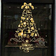 Weihnachtsfenster-Aufkleber, wiederverwendbar,