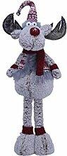 Weihnachtsfigur Elch mit Mütze, Schal, Pullover