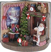 Weihnachtsfigur mit Echtem Feuer-Effekt - LED