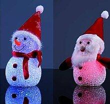 Weihnachtsfigur mit LED-Beleuchtung, ca. 12 cm