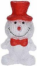 Weihnachtsfigur Schneemann mit LED-Beleuchtung, 30