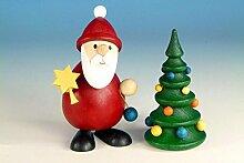 Weihnachtsfigur Weihnachtsmann stehend mit