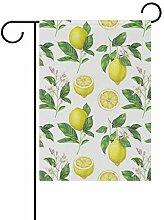 Weihnachtsflaggen für den Garten, Zitronenfrucht,