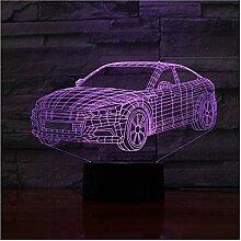 Weihnachtsgeschenk Auto Auto Form 3D Lampe 5V USB