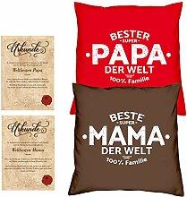 Weihnachtsgeschenk für Mama & Papa -:- 2 Kissen