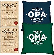Weihnachtsgeschenk für Oma & Opa -:- 2 Kissen