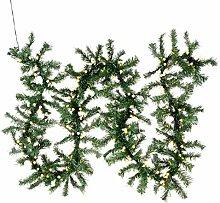 Weihnachtsgirlande mit 200 LED Kugeln gefrostet