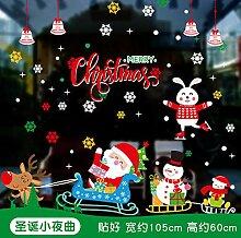 Weihnachtsglastür, Fensterdekoration,