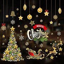 Weihnachtshaus Wandaufkleber abnehmbare