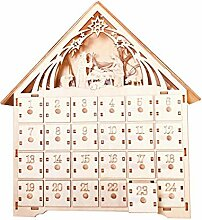 Weihnachtshölzerner Countdown-Adventskalender Mit