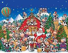 Weihnachtskalender mit Kuh-Motiv (Countdown bis