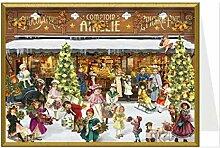 Weihnachtskarte - Am Schaufenster