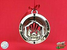 Weihnachtskarte Christbaumkugel Weihnachten Szene