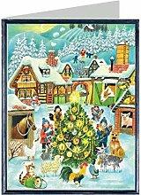 Weihnachtskarte - Weihnachten auf dem Bauernhof