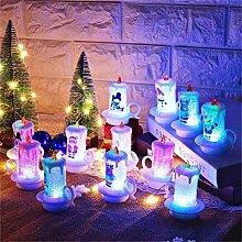 Weihnachtskerze Kerze Tasse LED Kerzen Flammenlose