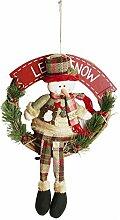 Weihnachtskranz Dekokranz Weihnachtsmann mit