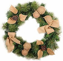 Weihnachtskranz, grüne PVC-Weihnachtsgirlande mit