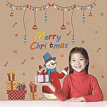 Weihnachtskranz Mann Aufkleber Wandaufkleber Vinyl