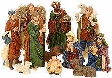 Weihnachtskrippe Figuren - 11 Teile - Krippe Figur