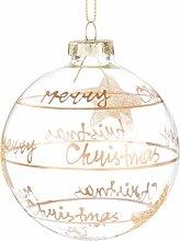 Weihnachtskugel aus Glas mit Sternen-Druckmotiv