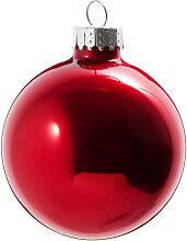 Weihnachtskugel aus Glas, rot