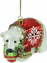 Weihnachtskugel, Christbaumkugel, Glasfigur,