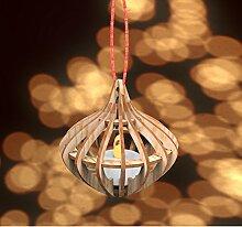 Weihnachtskugel Christbaumschmuck Holz Comet