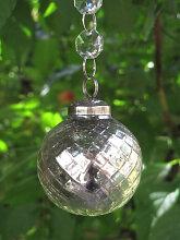 Weihnachtskugel Princess mit Netzmuster aus Glas