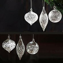 Weihnachtskugeln aus Glas, handgefertigt,