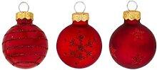 Weihnachtskugeln aus Glas, marsala, 3 cm Ø, 9
