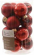 Weihnachtskugeln Christbaumschmuck rot Ø 35 mm 16