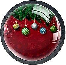 Weihnachtskugeln Glas Schrankgriffe 35 mm
