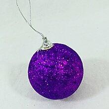 Weihnachtskugeln Kugel Glitter Violett, 48Stück, Geschenkidee