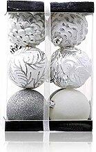 Weihnachtskugeln Set 12pcs 7cm Neujahr Dekoration