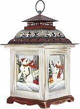 Weihnachtslaterne Schneemann Weiß ca. 27cm