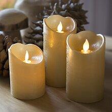 Weihnachtsleuchten Dekoration Kerze LED Gold Satz