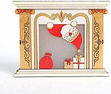 Weihnachtslicht-Kamin-Dekoration/Geführtes