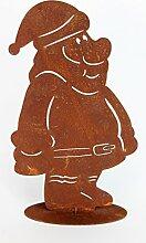 Weihnachtsmann 30cm Rost Gartendeko Edelros