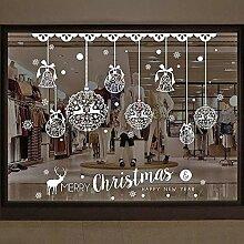 Weihnachtsmann DIY Glasfenster-Aufkleber