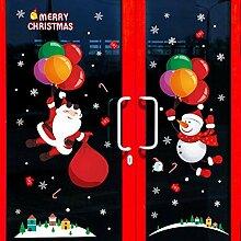 Weihnachtsmann Fenster Glastür Aufkleber