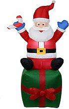Weihnachtsmann-Geschenk Figur Aufblasbar