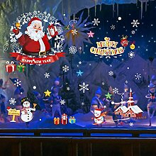 Weihnachtsmann Geschenk Tür Aufkleber arrangieren