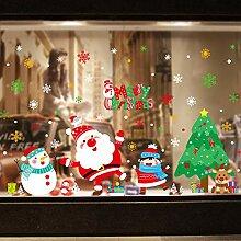 Weihnachtsmann Glas Aufkleber Dekoration Szene