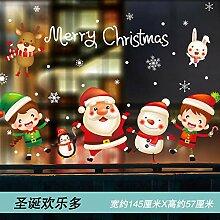 Weihnachtsmann Glas Aufkleber Weihnachtsdekoration
