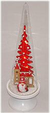 Weihnachtsmann im Glas mit LED-Lichterkette