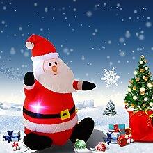Weihnachtsmann LED Schneeman Ballon aufblasbar Weihnachtsdeko beleuchtet Santa Ladendeko Weihnachtsfigur 122cm