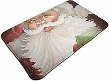 Weihnachtsmann mit Box Print Türmatte Badematte
